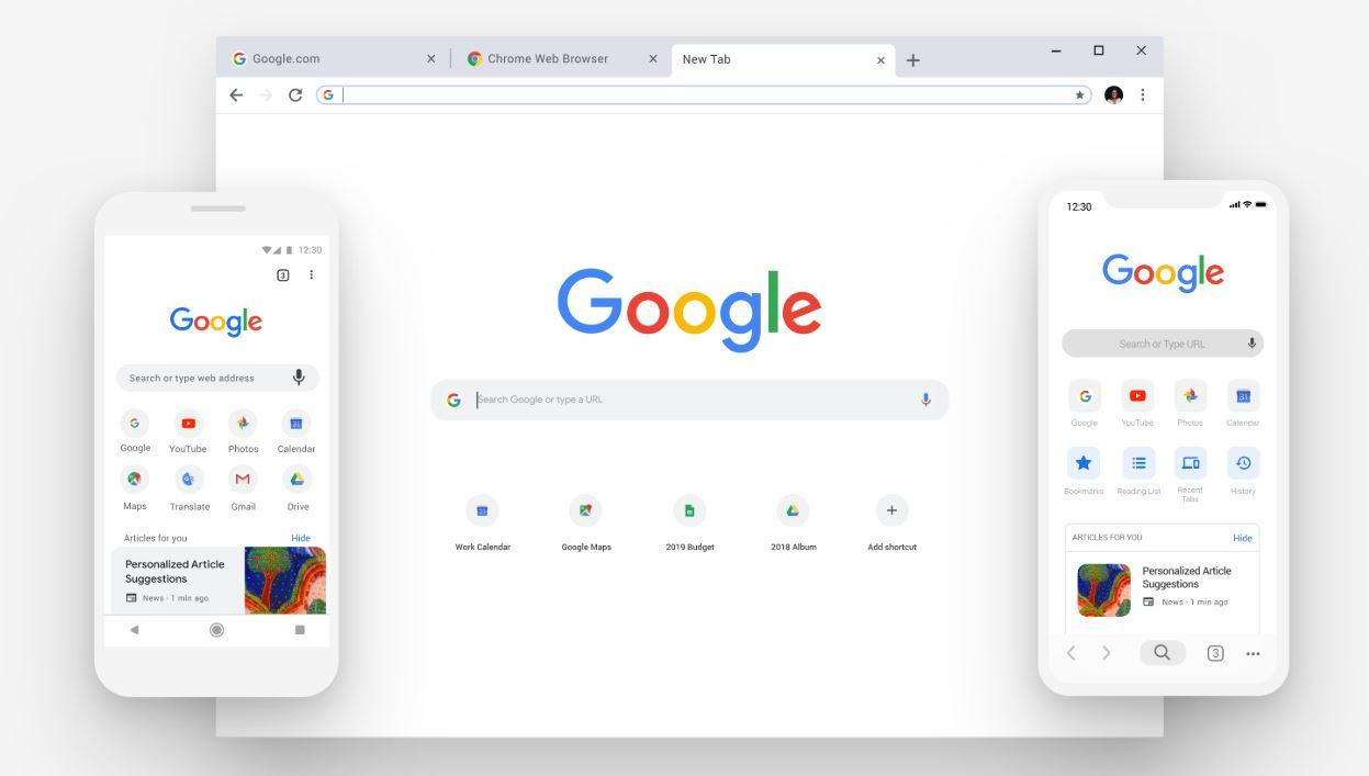 Google Chrome copia o novo design Microsoft Edge baseado no Chromium