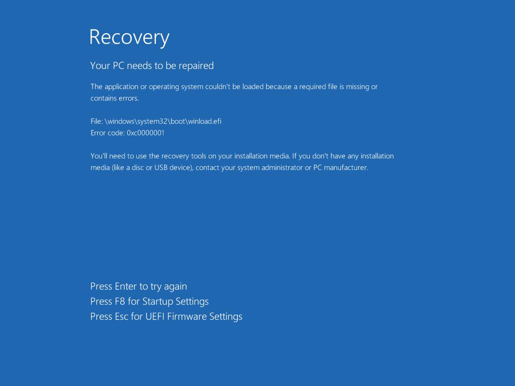 Falha no Windows Server impede que sistema inicialize, apresentando erro 0xc0000001
